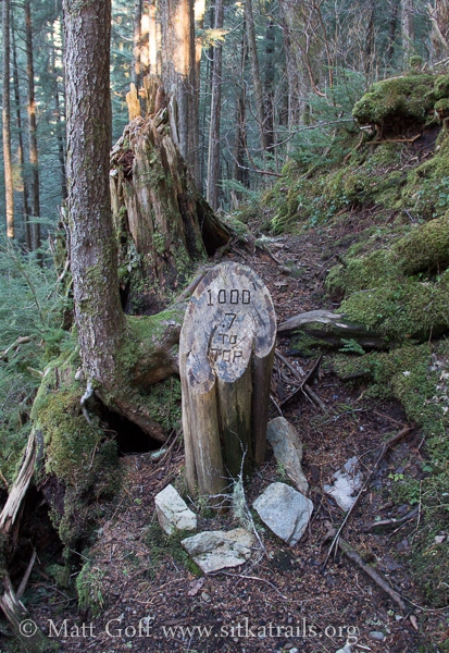 Trail Marker at ~1000ft Elevation